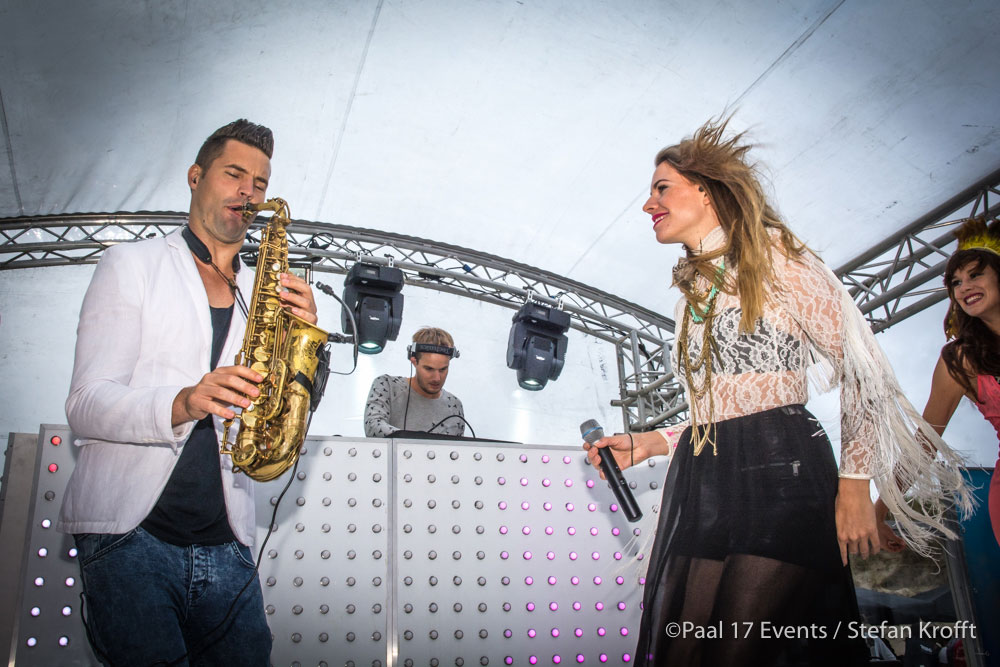 Ace on Sax en MC Choral @ Hed Kandi Beach House 2015